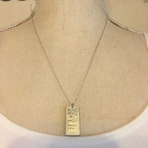 Vintage book pendant on 925 sterling silver chain